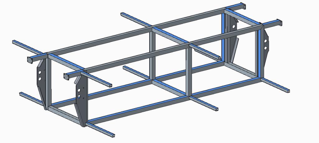 Del ogrodja sestavljen iz gradnikov razvitih v sodelovanju z VSŠ Celje.