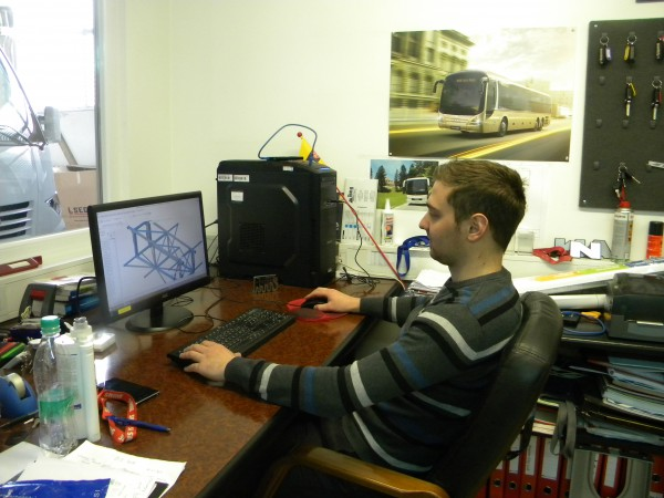 Bostjan Ocepek na delovnem mestu v AS Domzale