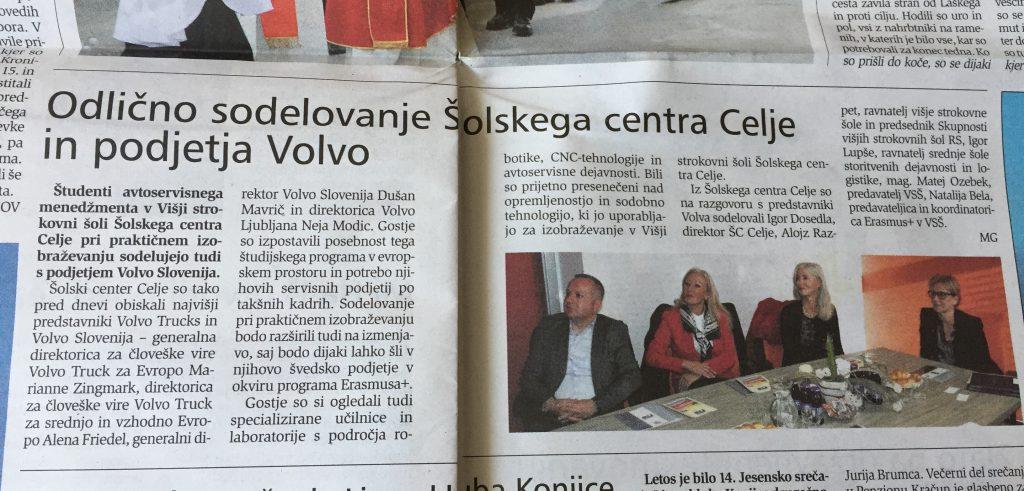 Prispevek o dogodku je bil objavljen v Novem tedniku, dne 7.12.2017