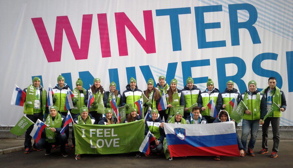 Člani slovenske univerzitetne reprezentance na 29. zimski univerzijadi v Rusiji 2019.